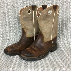 Ariat Distressed Square Toe Work Hog Cowboy Boots